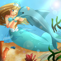 [ Contest entry ] Mermaid Mel by KitsuneRenaChan