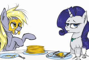 Pancake Monster attacks by MadHotaru