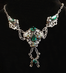 A Decade of Spring - silver neovictorian necklace by lilibat