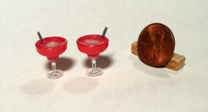 Mini Sparkling Strawberry Drinks by Kyle-Lefort