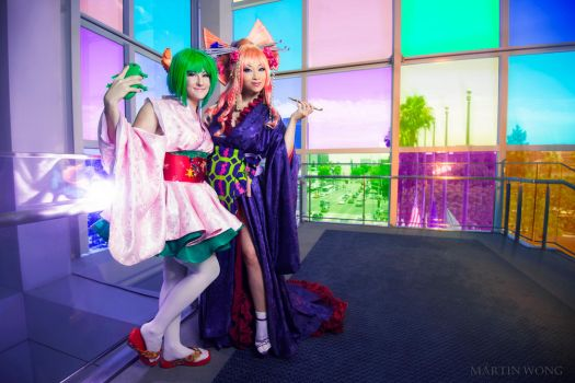 Macross Frontier - Ranka and Sheryl by yayacosplay