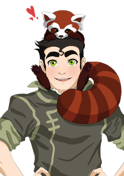 ATLA: Bolin and Pabu by momofukuu