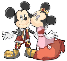 Mickey and Minnie Mouse by AlSanya