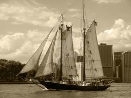 Pirates in Manhattan - sepia by JaclynLop818