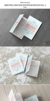 Greeting Card and Invitation Mockup by professorinc