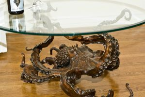 Octopus table in bronze by bronze4u