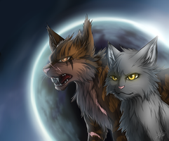 Warriors: Raggedstar and Yellowfang by Marshcold