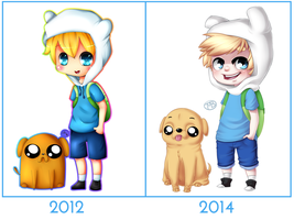 Draw This Again: Finn en Jake by WTFmoments