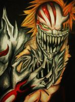 bleach ichigo full hollow by Polaara