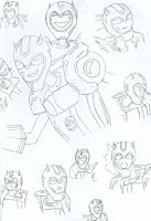 Bumblebee Sketches by Kasai-chan