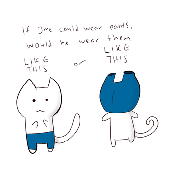 if a cat wore pants.. by polizeikommissar
