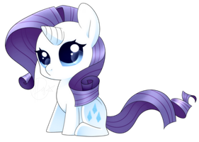 MLP - Chibi Rarity by haydee