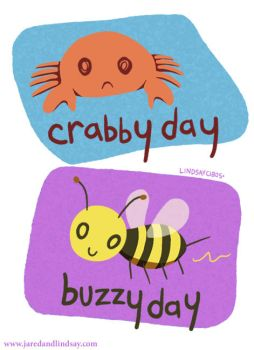 Crabby Day Buzzy Day by peachfuzzmargins