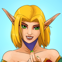 Avatar Commission - Lady Bloodelf Disguise by emikochan13