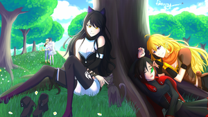 Team RWBY Returns to the Park by Madgamer2k7