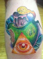 All seeing eye candle apple. by EricTatt