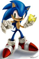 sonic the hedghog by richardlively83