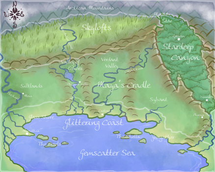 Map of Melodir by Patmoose