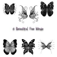 6 Fae Wing PS Brushes by Spyderwitch