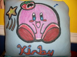 Kirby Pillow by HetaliaAmore