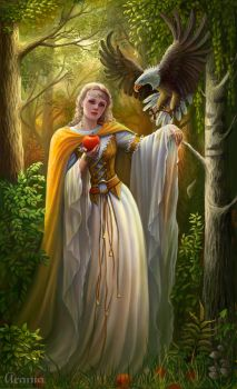 The forest enchantress by Araniart