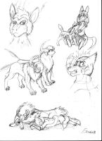Just some pokemon doodles by Fenris88