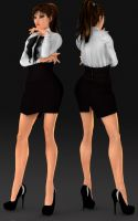 Fashion Dress DL by ZayrCroft