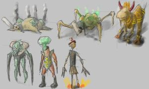character Concepts by mindschnapps
