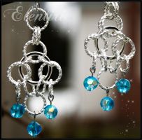 Twisted Ring Chainmaille Earrings by Aeltari