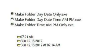 Generate Folder For Current Day Date Time AM PM by KeybrdCowboy