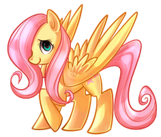 F is for Fluttershy by 0okami-Rei
