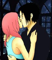 sasusaku kiss by rakerumcr