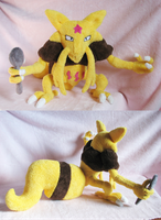 Kadabra plush by SewnRiver