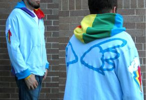 Rainbow Dash Summer hoodie by Lisa-Lou-Who