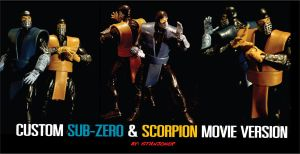 custom sub-zero and scorpion by STANJOKER