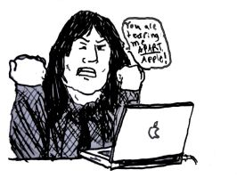 Tommy Wiseau buys a Mac by Doctor-Oysterhead