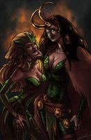 Lady Loki and the Enchantress by rosythorns