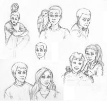 J,J sketches by LilBluestem