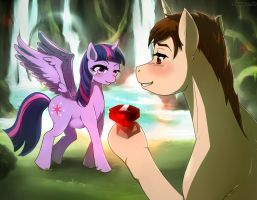Fanart pony twilight sparkle and peter parker COM  by sanaya