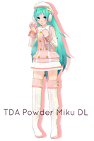 . : TDA Powder Miku download :. by ChocoFudge98