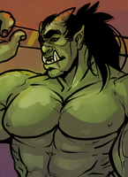 orc doodle by Benzy