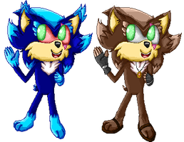 Mephy and Phee pixels by The-Great-Bunbutchi