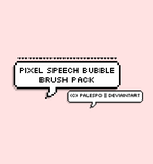 Pixel Speech Bubble PS Brushes by palespo