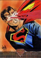 Superman: The Legend sketchcard 03 by RobertHack