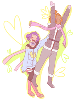 Nagisa and Ubume I believe I can fly by BayneezOne
