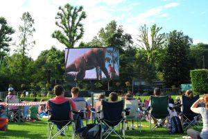 Dino Zoo Outdoor Movie Jurassic Park by JWBeyond
