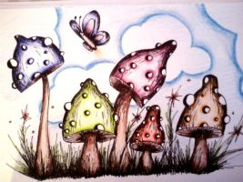 Psychedelic Mushrooms 2 by Kristin2704
