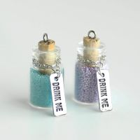 2 Drink Me Bottle Charms FOR SALE by MonsterBrandCrafts