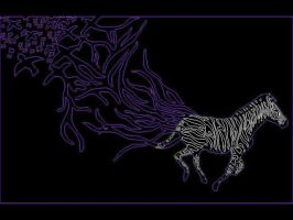 zebra wallpaper purple 2 by butterflywisper