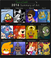 Art Summary-2016 by SnivyStuff